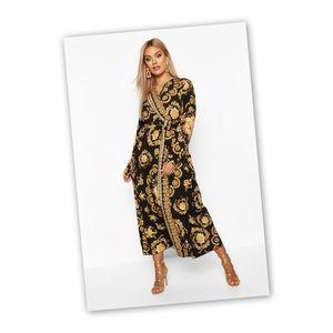 Boohoo Print Maxi Dress